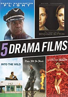 Flight / Benjamin Button / Into Wild / There Will be Blood / American Beauty (5 Drama Films)