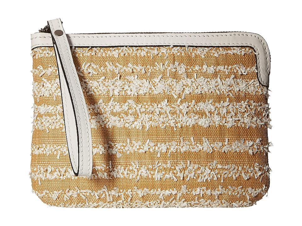 Patricia Nash Ebbe Woven Straw Cassini Wristlet (White) Wristlet Handbags