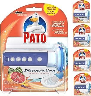 Pato - Discos Activos WC Frescor Tropical, aplicador y recambio con 6 discos [Pack de 5][Todos los aromas]