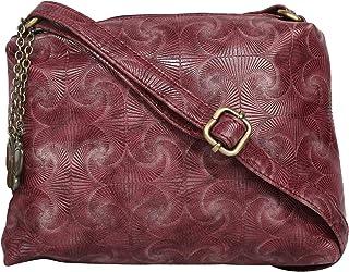 (Butterflies Women Sling Bag (Burgundy) (BNS 0710BGD)