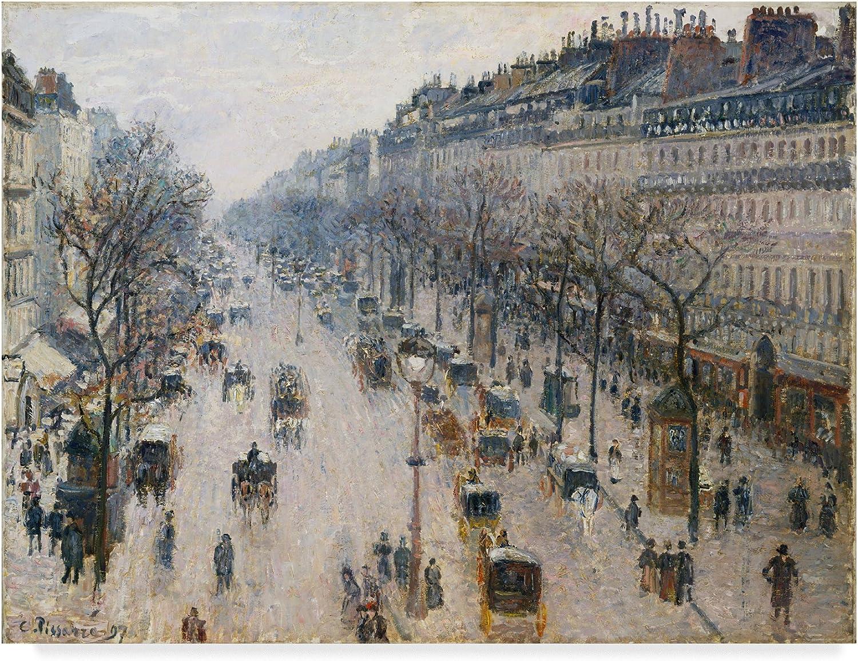 Trademark Fine Art a Winter Morning by Camille Pissarro, 14x19, Multicolor