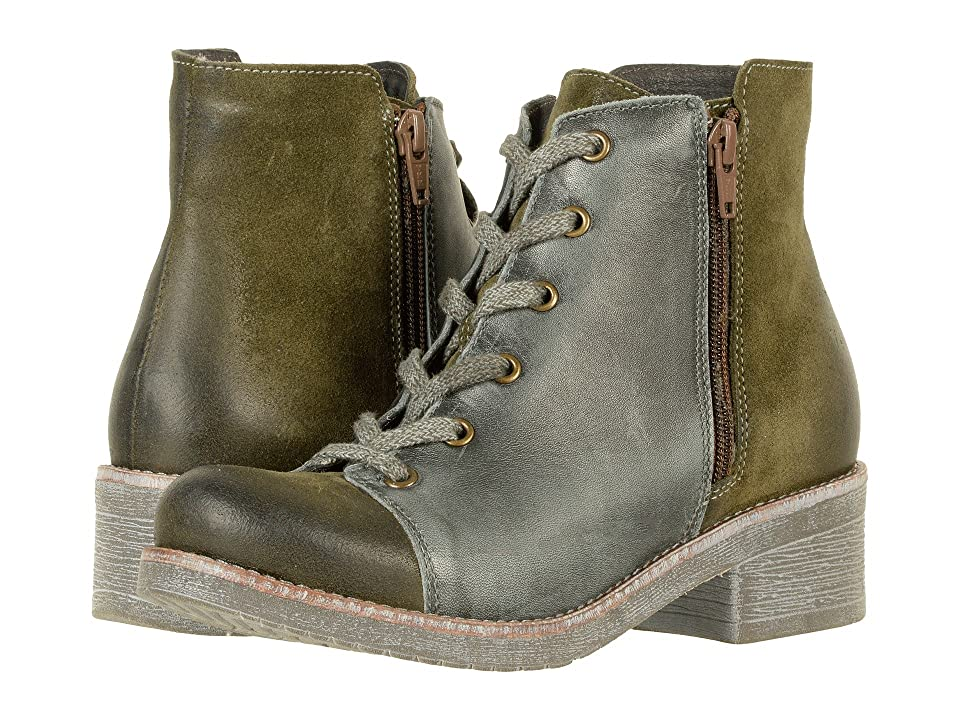 Naot Groovy (Oily Olive Suede/Vintage Smoke Leather) Women