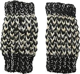 KNG3606 Metallic Yarn Fingerless Gloves