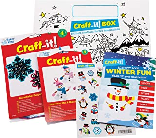 Pencils and Stickers Activity Book Keep Kids Occupied for Parties Xmas Stocking Filler Colouring Book MUQU/® Christmas Activity Pack