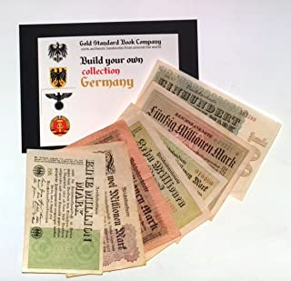 1923 Germany Hyper Inflation Full set of Authentic notes 1 to 100 Million Mark Banknotes (Build Your Own Collection)