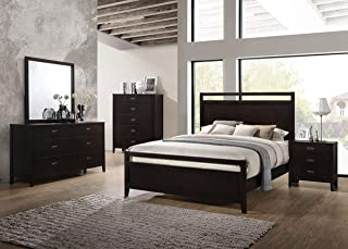Kings Brand Furniture – 6-Piece Aloha Dark Cherry Queen Size Bedroom Set. Bed, Dresser, Mirror, Chest & 2 Night Stands