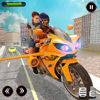 Futuristic Flying Bike Taxi Racing Simulator