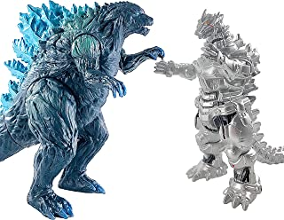 TwCare Set of 2 Godzilla Earth MechaGodzilla Figures King of The Monsters, 2021 Movable Joints Action Movie Series Soft Vi...