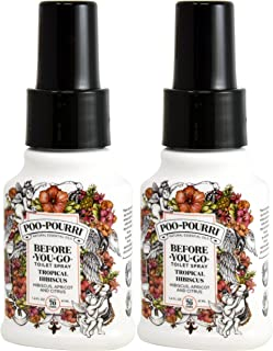 Poo Pourri Tropical Hibiscus Before You Go Spray, 2 Ounce (2 Count)