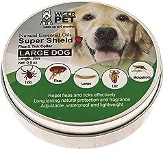 Collar de Wiser Pet contra las pulgas | Natural, evita y controla las pulgas y los insectos, sin ni químicos ni toxinas, seguro para mascotas y familia, de larga duración hasta 180 días.