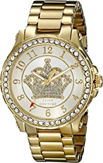 Juicy Couture Women's 1901232 Pedigree Analog Display Quartz Gold Watch