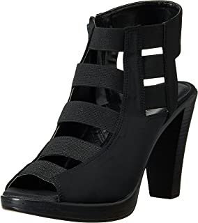 Catwalk Black Heeled Sandals for Women's