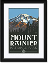 "Northwest Art Mall Mount Rainier National Park Washington Framed & Matted Art Print by Paul A. Lanquist. Print Size: 12"" x 18"" Framed Art Size: 18"" x 24"""