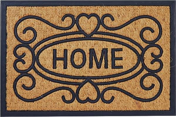 Envelor Coco Coir 门垫橡胶衬垫巴拿马门垫欢迎回家