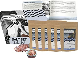 Salt Trial Set Natural Salts of the World Gift Box | Salt World Trip Gift Idea Gift Set for Women Men | Salt Box Gift Box ...