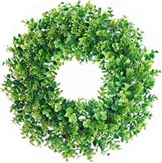 Lvydec Artificial Green Leaves Wreath - 17