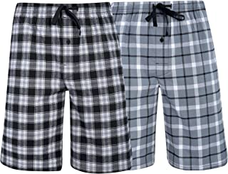 Men's & Big Men's Woven Stretch Pajama Shorts – 2 Pack
