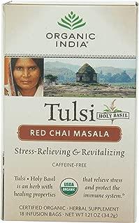 Organic India Organic Tulsi Herbal Tea, Red Chai Masala, 18 Tea Bags (Pack of 6)
