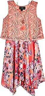 فستان البوبوفر للبنات من Amy Byer مع حاشية منحنية