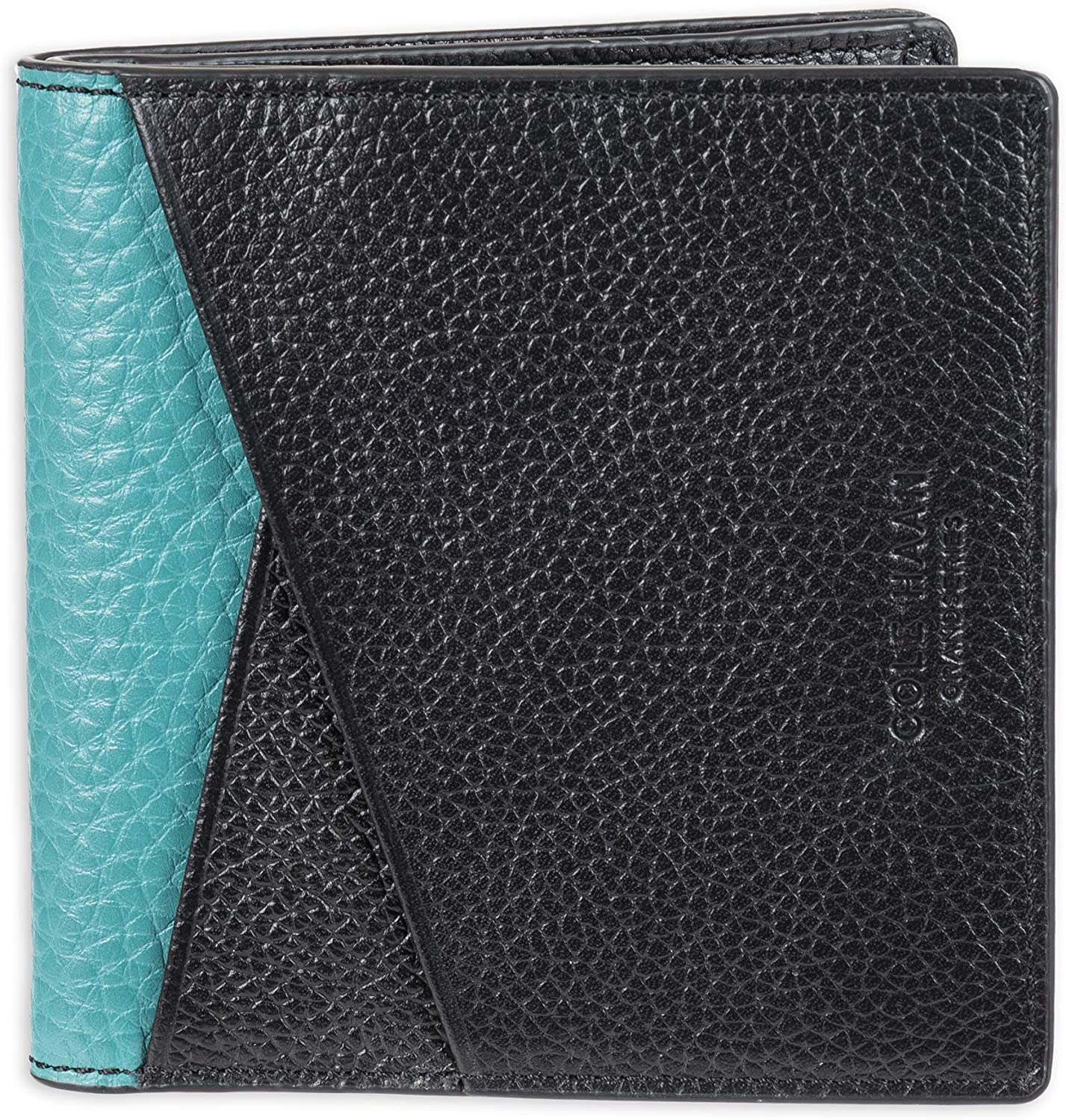 Cole Haan Men's Grand Series Color Block Leather Duofold Card Case Wallet