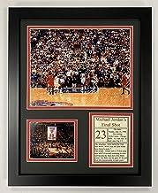 "Legends Never Die Michael Jordan- Final Shot - 1998 NBA Finals Collectible | Framed Photo Collage Decor - 12""x15"" (12309U)"