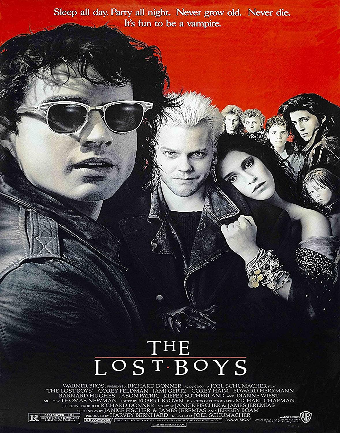 The 5 ☆ very popular Lost Boys 1987 Movie Poster 11×14 Posters inc Year-end annual account Print Art
