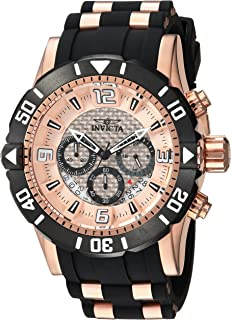 Invicta Men's Pro Diver Stainless Steel Quartz Diving Watch with Polyurethane Strap, Two Tone, 26 (Model: 23708)