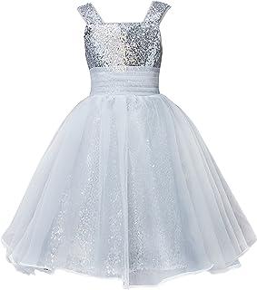 7fbdcba690e Mermaidtalee Long Sequin Girl s Dresses Flower Girl Dresses