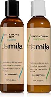 Salt & Sulfate Free Shampoo and Nourishing Conditioner - Keratin Complex. For Daily Use, Combo Set. Extends the Life of Keratin Treatment & Enhances Results and Restores Hair (4 Fl Oz)