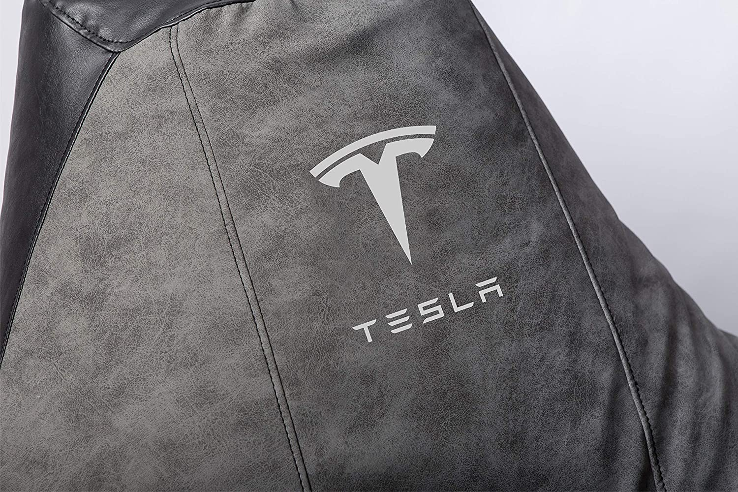 Tesla Supercar Comfortable Kids Adult Game Outdoor Indoor Lounge Chair Cover + Inner Bag (Without Beans) Alikantar
