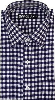 PROLIAN Men's Small-Checkered Woolen Cotswool Long Sleeve Shirt CTWL12
