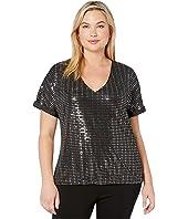 Plus Size Iruk Short Sleeve Top