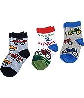 Jefferies Socks - Born 2 Farm Triple Treat (Infant/Toddler/Little Kids)