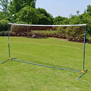 BenefitUSA Portable Training Volleyball Badminton Tennis Net Beach Outdoor Game Sports Net System with Carrying Bag