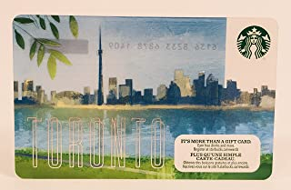 Starbucks Gift Card Collectible No Value 2017 Toronto Canada City Card Limited Edition