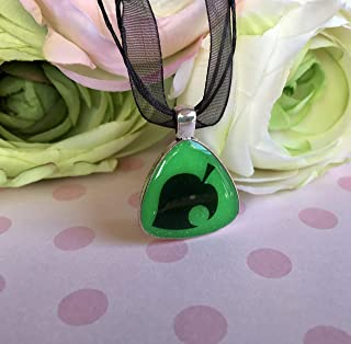 Animal Crossing New Leaf Inspired Green Glow In The Dark Pendant Necklace