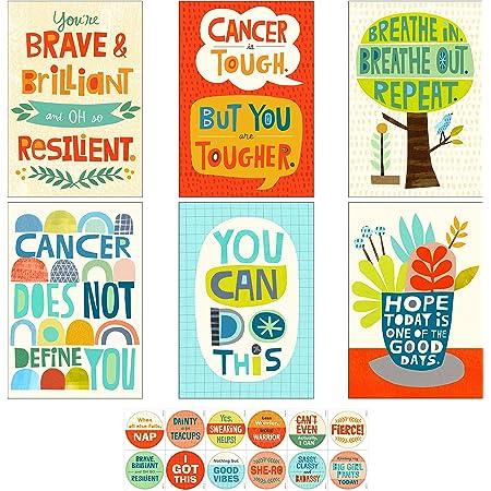 Hallmark Encouragement Cards Assortment for Cancer, Illness, Tough Times (12 Cards and Envelopes, 12 Stickers), (Model: 5STZ5109)