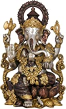 """Brass Large Lord Ganesha Statue, Height 13.2"""" I Home Décor"""