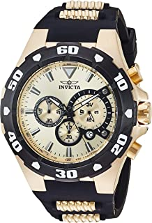 Invicta Men's Pro Diver Stainless Steel Quartz Watch with Silicone Strap, Two Tone, 0.92 (Model: 24682)