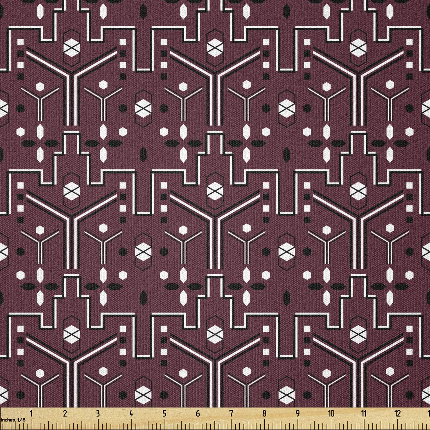 Ambesonne Abstract Fabric by The Sales Yard Contemporary St Max 72% OFF Repeating