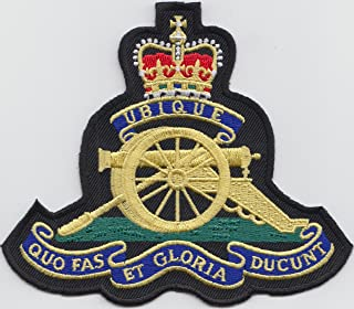 1000 Flags MOD Approved - British Army Royal Artillery Embroidered Crest Badge Blazer Patch