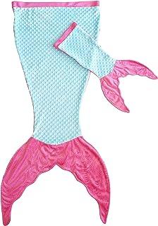 Posh Peanut Mermaid Tail Blanket for Girls – Soft Kids Blankie Made by Minky Plush..