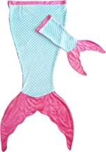 Posh Peanut Mermaid Tail Blanket for Girls - Soft Kids Blankie Made by Minky Plush - Includes a Free Newborn Blanket - Makes Great Gift for Ages (0 Months to 11 Years)