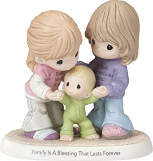 Precious Moments Family is A Blessing That Lasts Forever Mom & Grandma with Baby Bisque Porcelain Home Decor Collectible Figurine 173009