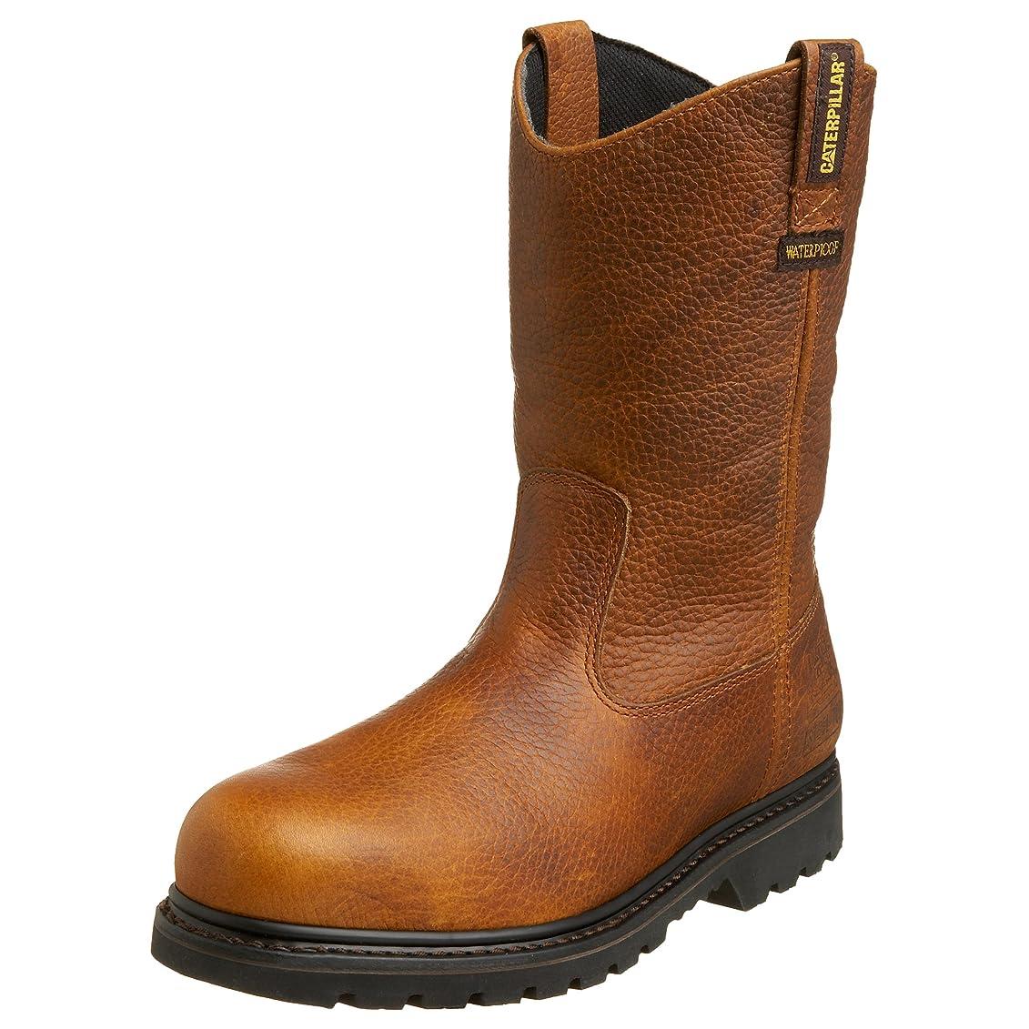 偉業宮殿竜巻[Caterpillar] Men 's EdgeworkプルオンWaterproof Steel Toe Work Boot