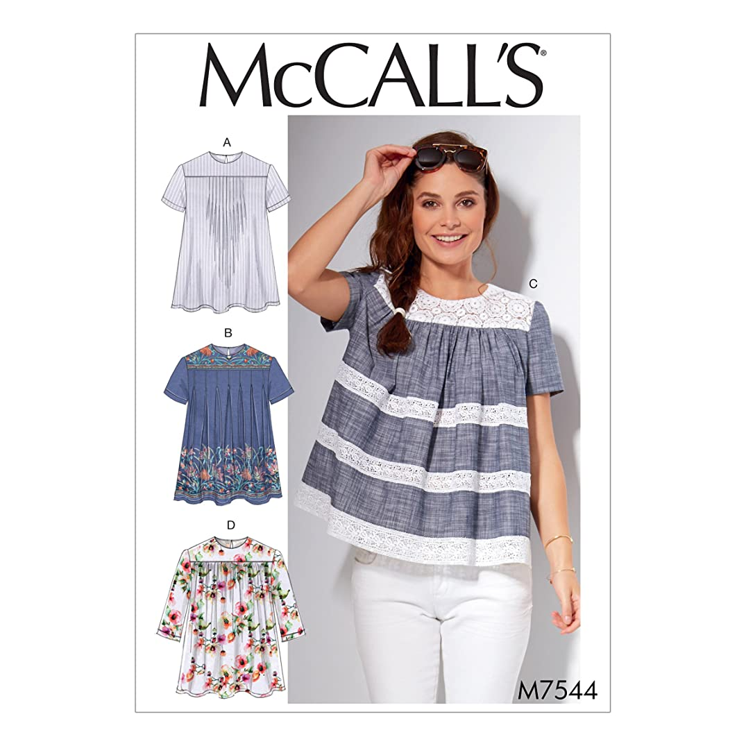 McCall's Patterns M7544A50 Misses' Pleated or Gathered Tops