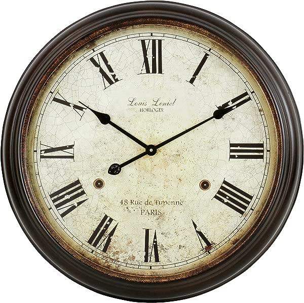 Aspire Emmaline Round Wall Clock Brown