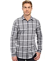 Perry Ellis - Slim Shaded Plaid Shirt