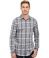 Perry Ellis - Slim Shaded Plaid Shirt