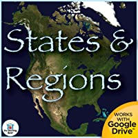 States and Regions Interactive Notebook Unit Printable or for Google Drive™ or Google Classroom™